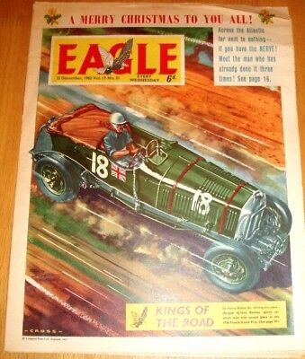 Eagle Comic  Christmas Issue 1962 With Great Western T.p.o. Cutaway Drawing