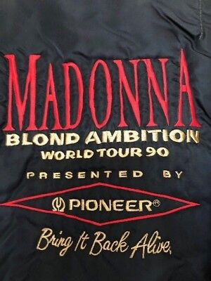 e54c0a9d037 EXCLUSIVE MADONNA Blond Ambition World Tour 1990 Staff Bomber Jacket Pioneer