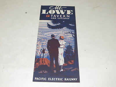 # Vtg Souvenir Pacific Electric Railway Mt. Lowe Taven And Cottages Brochure #