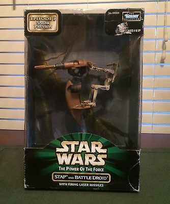 Star Wars the Power of the force stap and battle droid 1998