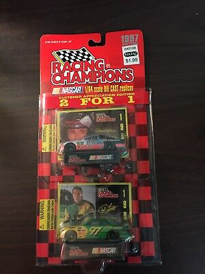 Racing Champions Nascar 2 For 1 Edition 1997 Diecast 1:64 Cars