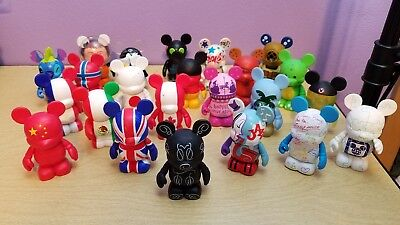Disney Vinylmation Lot Of 23 Flags Special Editions Etc