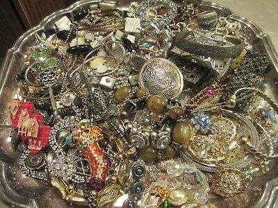 HUGE!  Vintage to Now JUNK DRAWER Jewelry Lot Estate Find UNSEARCHED UNTESTED