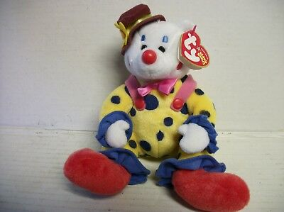 Ty Beanie Baby Juggles the Clown Bear (DOB Oct 9, 2004) MWMT, Retired
