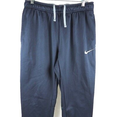Nike Men's Track Pant Sweatpants Therma-Fit Athletic Fleece Lined Navy Blue L