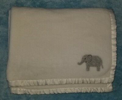 Baby Carters White Plush B A B Y Bee Center Baby Blanket Soft Security Lovey Pastel