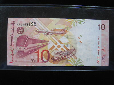 Malaysia $10 Ringgit 2004 42# Bank Currency Banknote Money