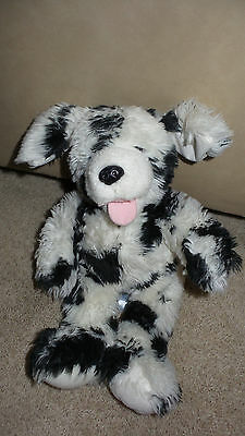 SPOTTED DOG FURRY Plush Toy Polyester Fiberfill Noah's Ark Animal Workshop 14""