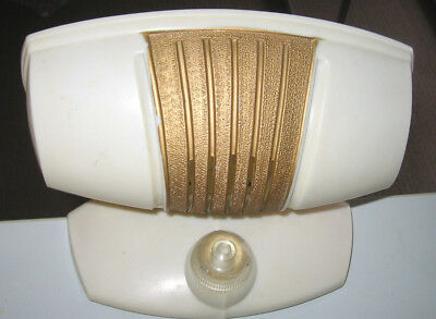 VINTAGE RETRO CREAM BAKELITE READING ~ BED LAMP 1950s  Lumeray Brand