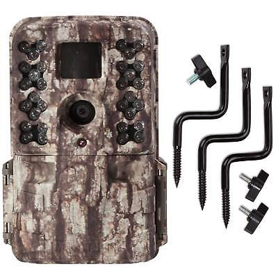 Moultrie M40 16MP 80' FHD Video Low Glow Infrared Game Trail Camera + Tree Mount