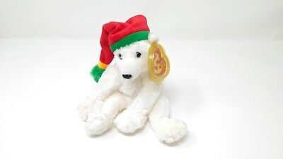 "TY Beanie Babies- ""SNOWDRIFT"" The Christmas Polar Bear - 2003"