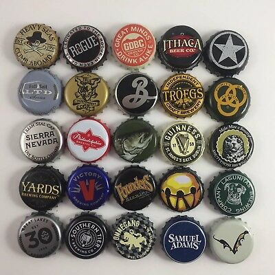 Beer Bottle Caps Lot of 25 All Different Brewery Craft Micro *Pick up to 5*