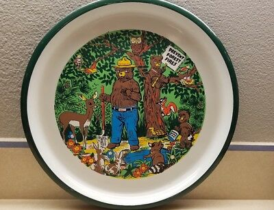 Vintage Smokey The Bear Serving  Tray Prevent Forest Fires Rare woodland animals