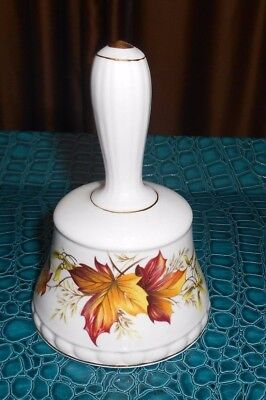 Vintage Queen's Fine Bone China Maple Leaf Bell - Made in England - 4.5 inches