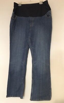 Liz Lange Maternity for Target Boot Cut Jeans Full Panel Size 18 Med Wash