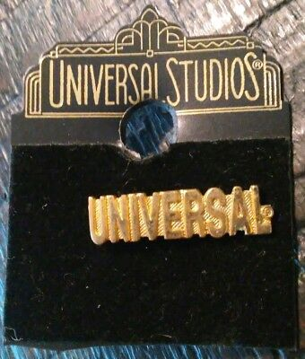 Universal Studios Gold Plated Collectible Pin Authentic Original Rare