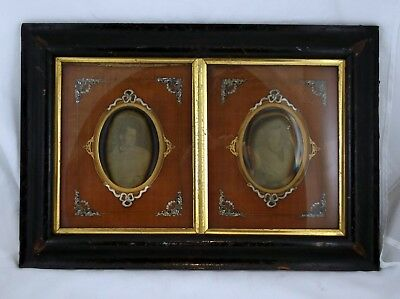 Unusual Double Framed and Matted Daguerreotypes Sitter was age 21 Dated 1846