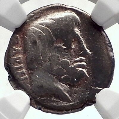Roman Republic Sabine KING of Rome TATIUS Ancient Silver Coin CHARIOT NGC i72100