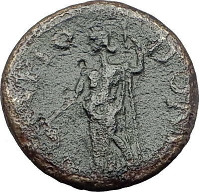 100BC-100AD Authentic ANCIENT Original Greek City Coin DEMOS & DIONYSUS i63734