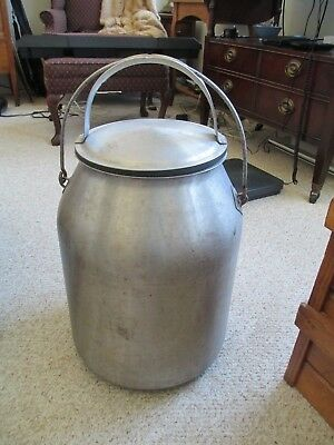 Mc Cormick Deering Stainless 5 Gal. Milk Pail W/cover And Bail Handle
