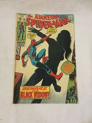 Amazing Spider Man Marvel Comics Issue #86 July 1970 Very Good Condition
