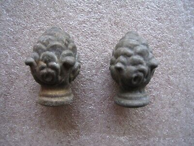 Vintage one  Pair of used brass  Lamp Finials  your choice have 8 pair