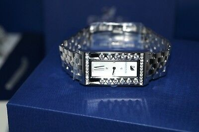 43abfac49216 Authentic  549 DANIEL SWAROVSKI LOVELY CRYSTALS SQUARE WB STS MOP SILVER  WATCH