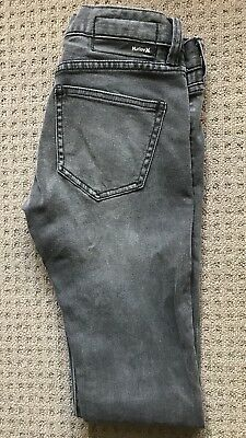 Hurley Boys Jeans Black Skinny Size 10 As New