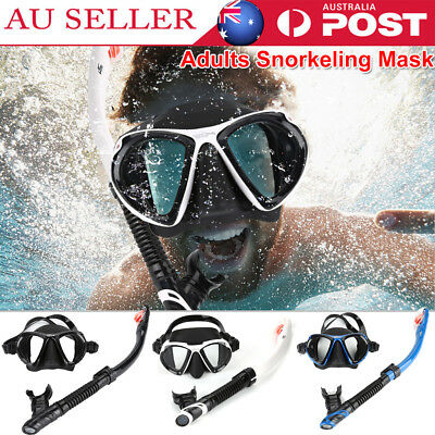 Keep Diving Anti Fog Mask Snorkel Set Dive Gear Full-dry 180°Swimming Silicon AU