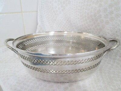 Walker And Hall Silver Plate Large Bowl/ Dish