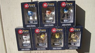 M&Ms STAR WARS THE MPIRE LOT OF 7 NEW IN BOX HOLIDAY ORNAMENTS FOR CHRISTMAS