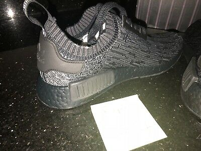 23bc15d0a78d7 ADIDAS NMD R1 PITCH BLACK SZ 9 NEW japan boost black vintage white red apple  2.0