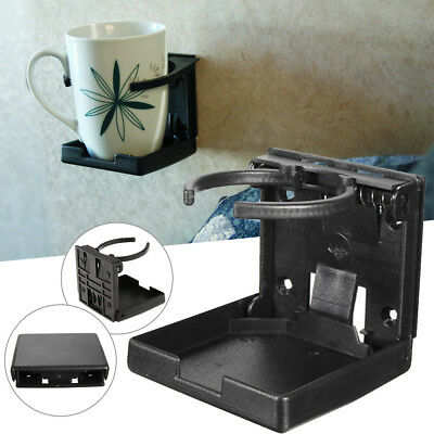 1 Pcs Adjustable Black Folding Drink Cup Holder Mount Boat Marine Car Truck RV