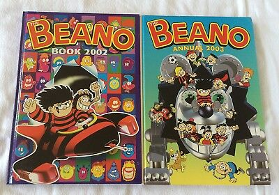 2 X Beano Book Annual 2002 & 2003  BOTH VERY GOOD CONDITION