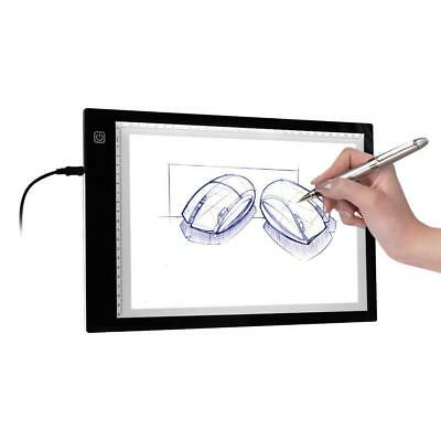 A4 Adjustable LED Tracing Light Box Board Drawing Copy Pad Table Stencil Display