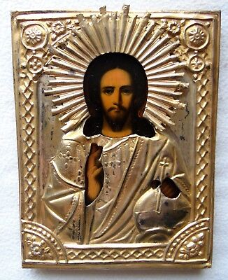 Antique Russian Icon of the Jesus Christ.19th Century.