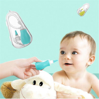 2pcs Newborn Baby Safety Nose Cleaner Kids Vacuum Suction Nasal Aspirator Set