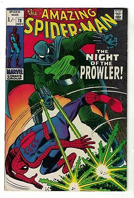 Marvel comics Amazing Spiderman 78  1st Prowler  VFN- 7.0 1969 silver age