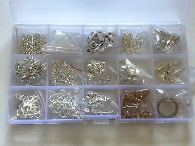 Box Of Silver Coloured Jewellery Making Findings