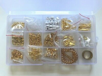 Box Of Gold Coloured Jewellery Making Findings