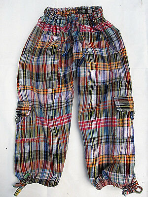 Kids Boys / Girls Cotton Hippy Boho Pants w/ Pockets - Size 5 / 6 - New