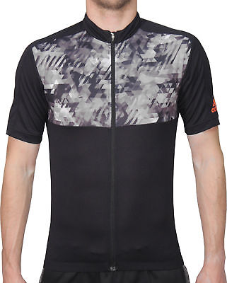 adidas Trail Race Mens Short Sleeve Cycling Jersey - Black