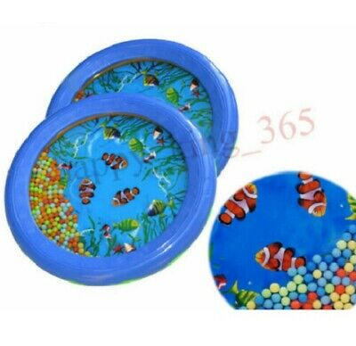 Kids Children Sensory Visual Ocean Wave Sea Sound Bead Drum Educational Toy UK