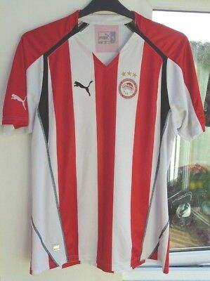 Olympiakos 2005-2006 Home Puma Football Soccer Shirt Jersey Top Xl Adult