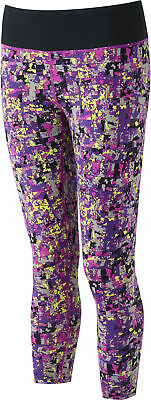 e341fe59f6b932 RONHILL WOMENS MOMENTUM Tights Bottoms Pants Trousers Purple Sports ...