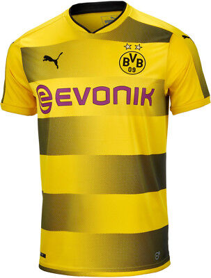 Puma BVB Dortmund 2017/18 Mens Replica Football Shirt - Yellow