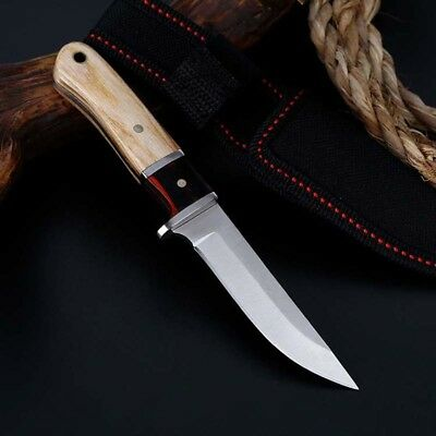 "6"" Fixed Blade Tactical Straight Pocket Hunting Survival Knife EDC With Sheath"