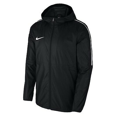 Nike Park 18 Football Junior Boys Unisex Rain Jacket Coat Black XS S M L XL Kids