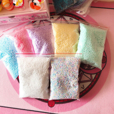Warm color snow mud particles accessories tiny foam beads slime balls supplies W