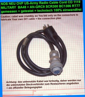 Only Nur Connector Army MIL Radio Cable-CD1119 BA48 > AN-GRC9 SCR300 BC1306 RT77